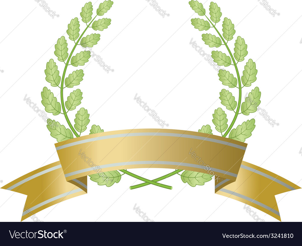 Branch with ribbon vector | Price: 1 Credit (USD $1)