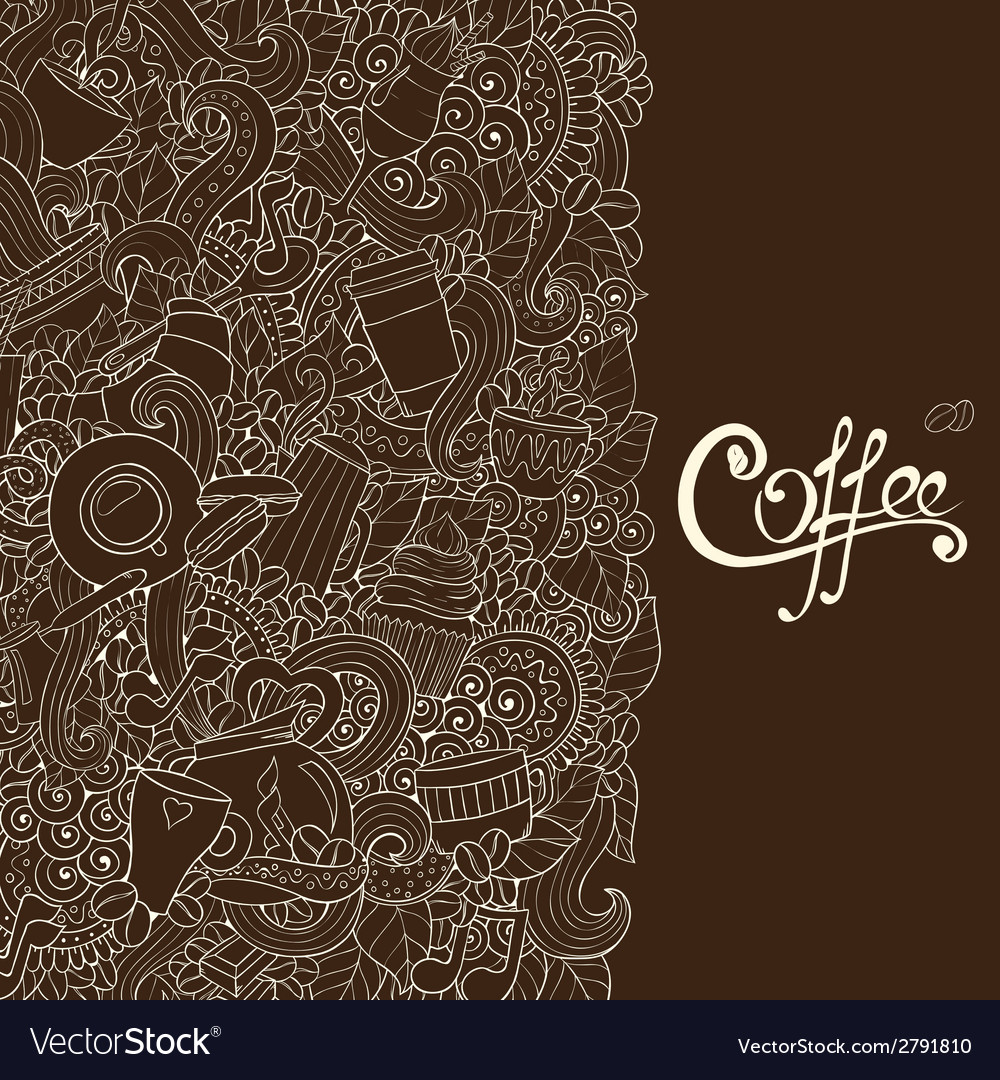 Coffee sketch notebook doodles vector | Price: 1 Credit (USD $1)