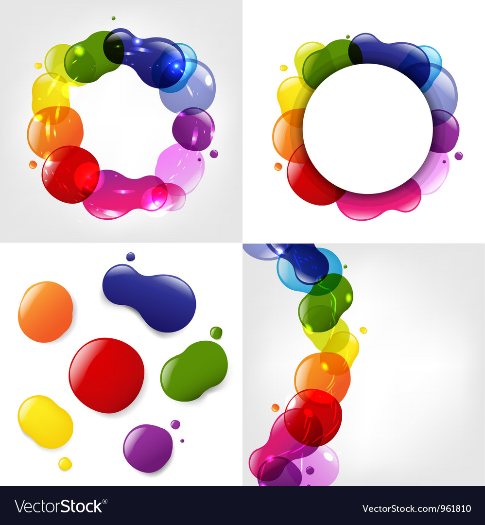 Colorful splotch formations vector | Price: 1 Credit (USD $1)