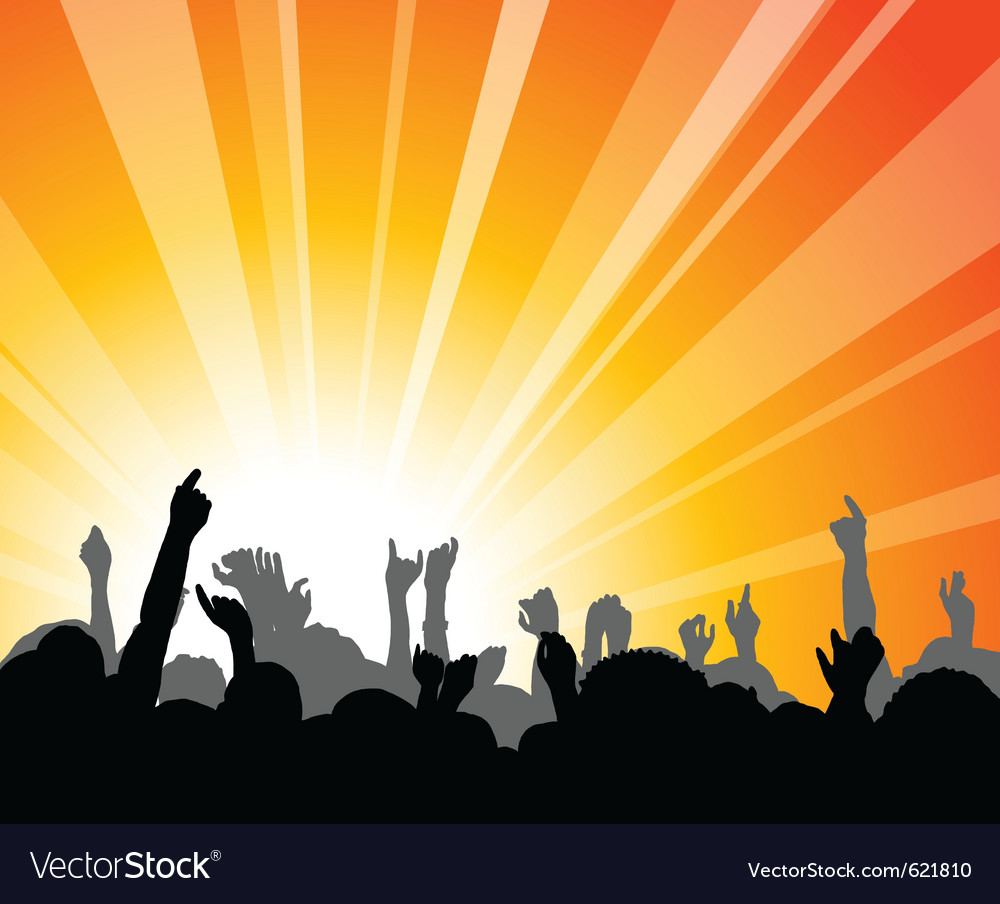 Concert rays vector | Price: 1 Credit (USD $1)