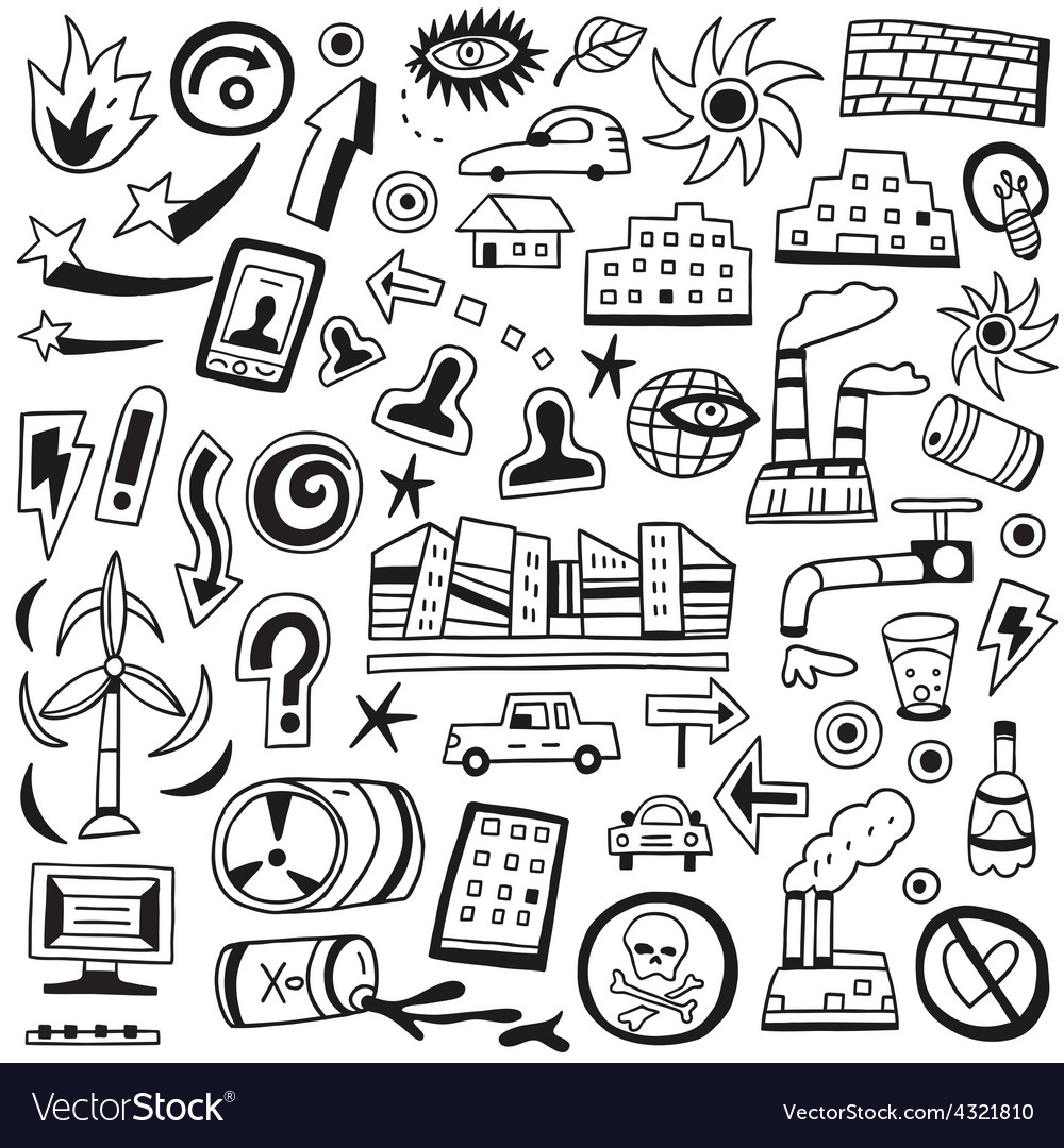 Ecology doodles vector | Price: 1 Credit (USD $1)