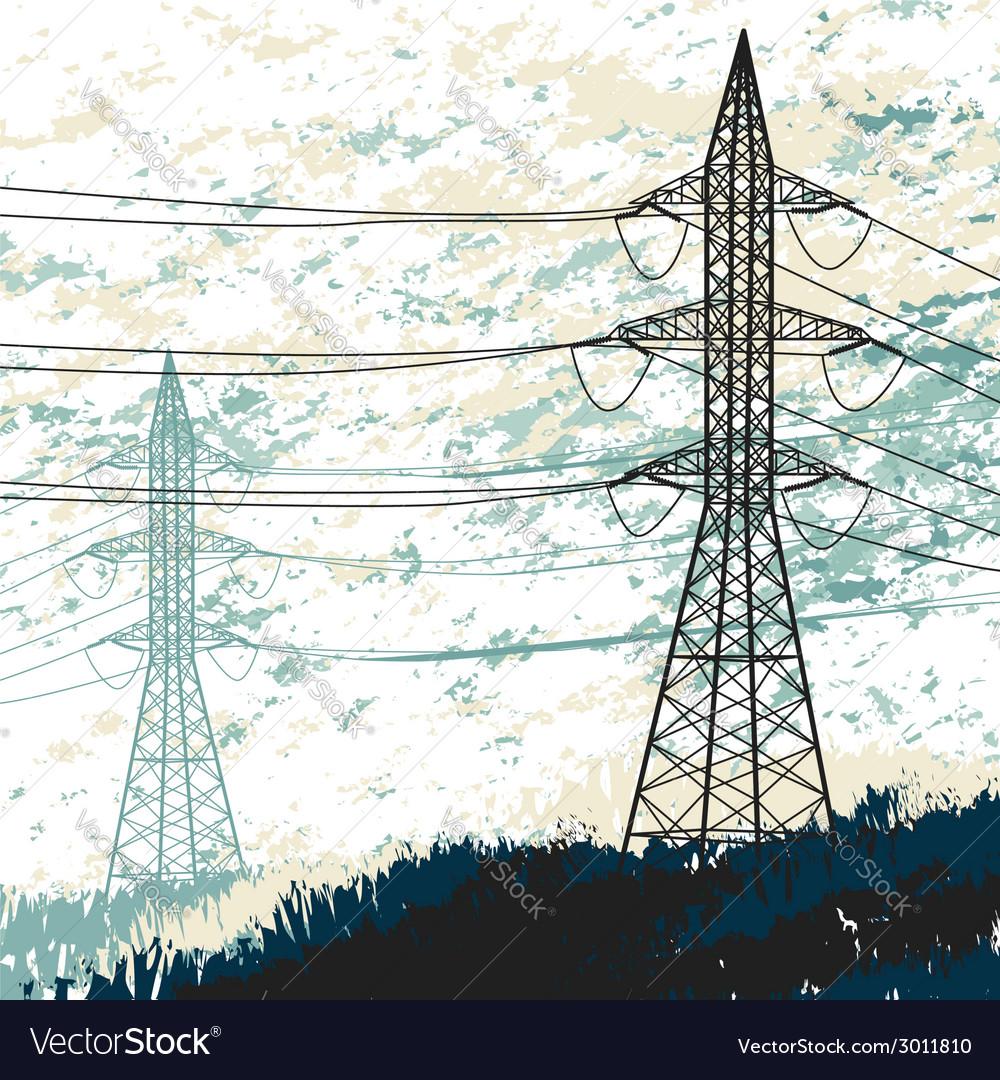 High voltage pylon vector | Price: 1 Credit (USD $1)