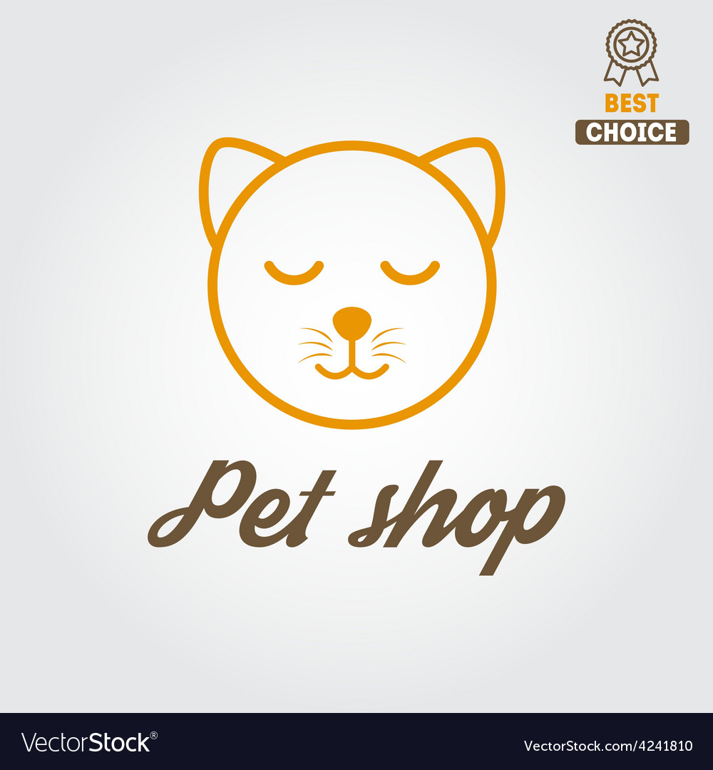 Logo badge or label for pet shop or veterinary vector | Price: 1 Credit (USD $1)