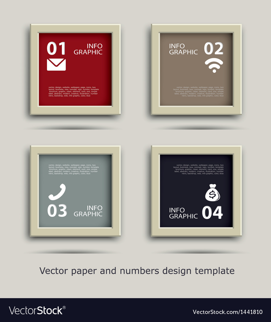 Paper and numbers icon communication design vector | Price: 1 Credit (USD $1)