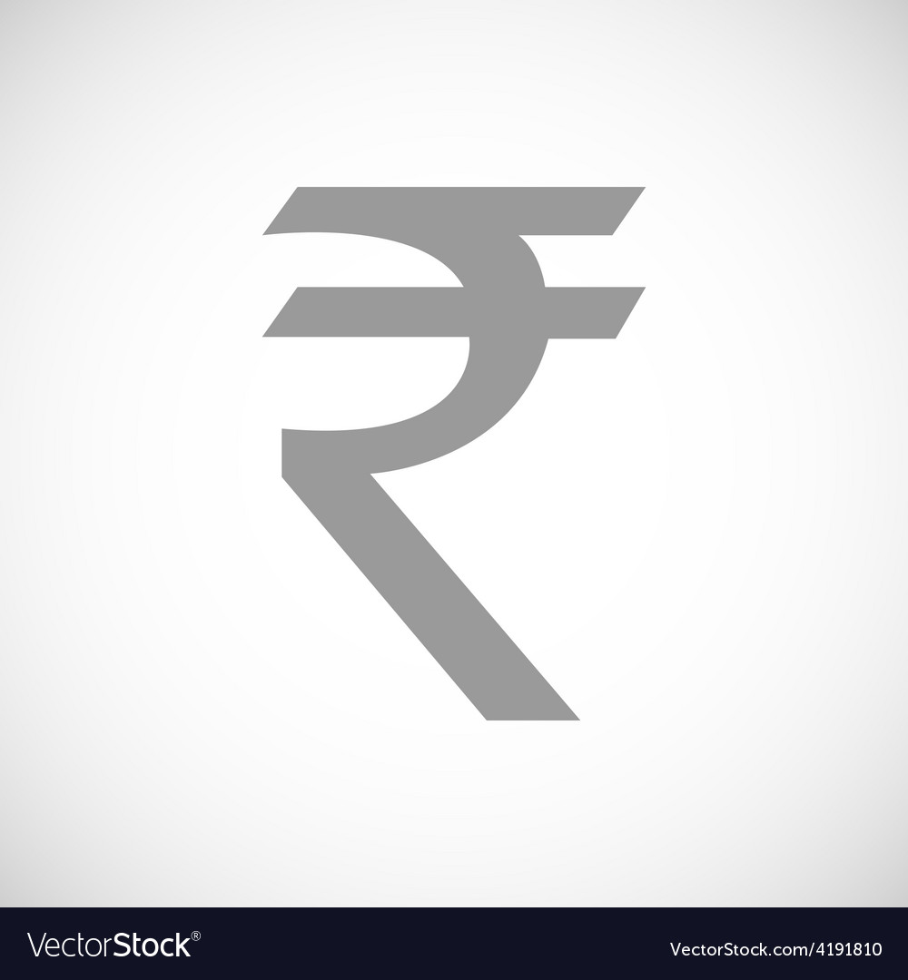 Rupee black icon vector | Price: 1 Credit (USD $1)
