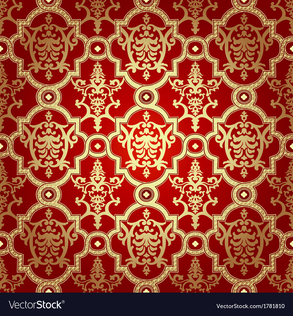 Seamless pattern backgrounddamask wallpaper vector | Price: 1 Credit (USD $1)