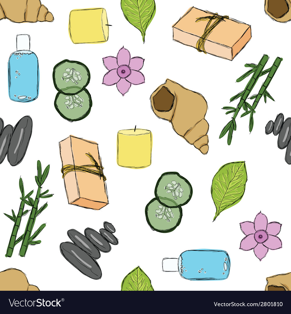 Seamless spa pattern vector | Price: 1 Credit (USD $1)