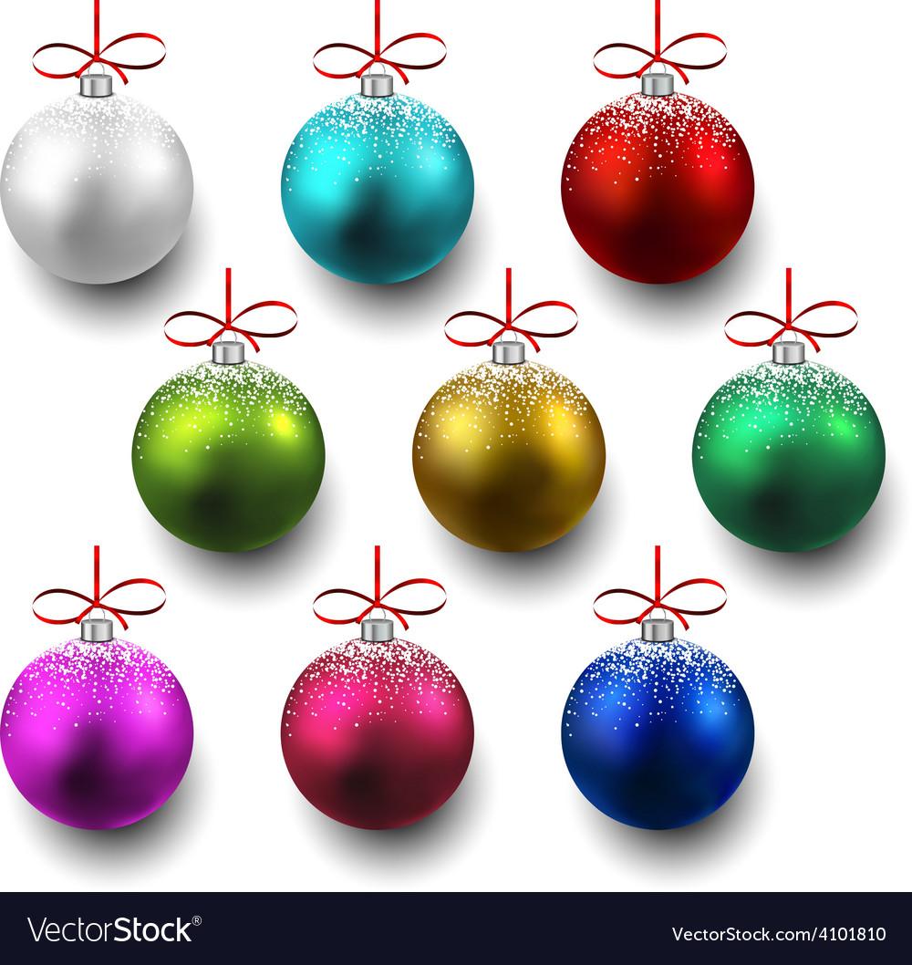Set of realistic christmas balls vector   Price: 1 Credit (USD $1)