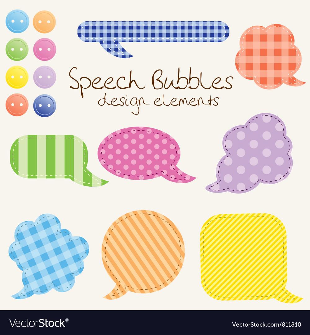 Speech bubbles design vector | Price: 1 Credit (USD $1)