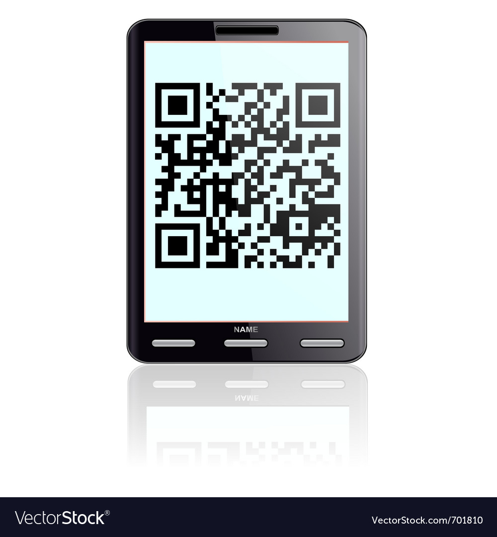 Tablet computer with qr code vector | Price: 1 Credit (USD $1)