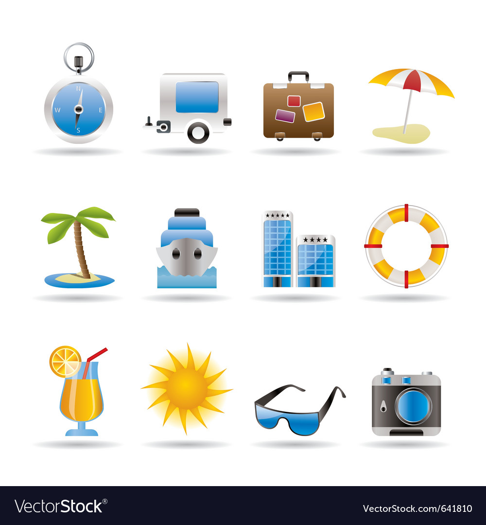 Travel and trip icons vector | Price: 1 Credit (USD $1)