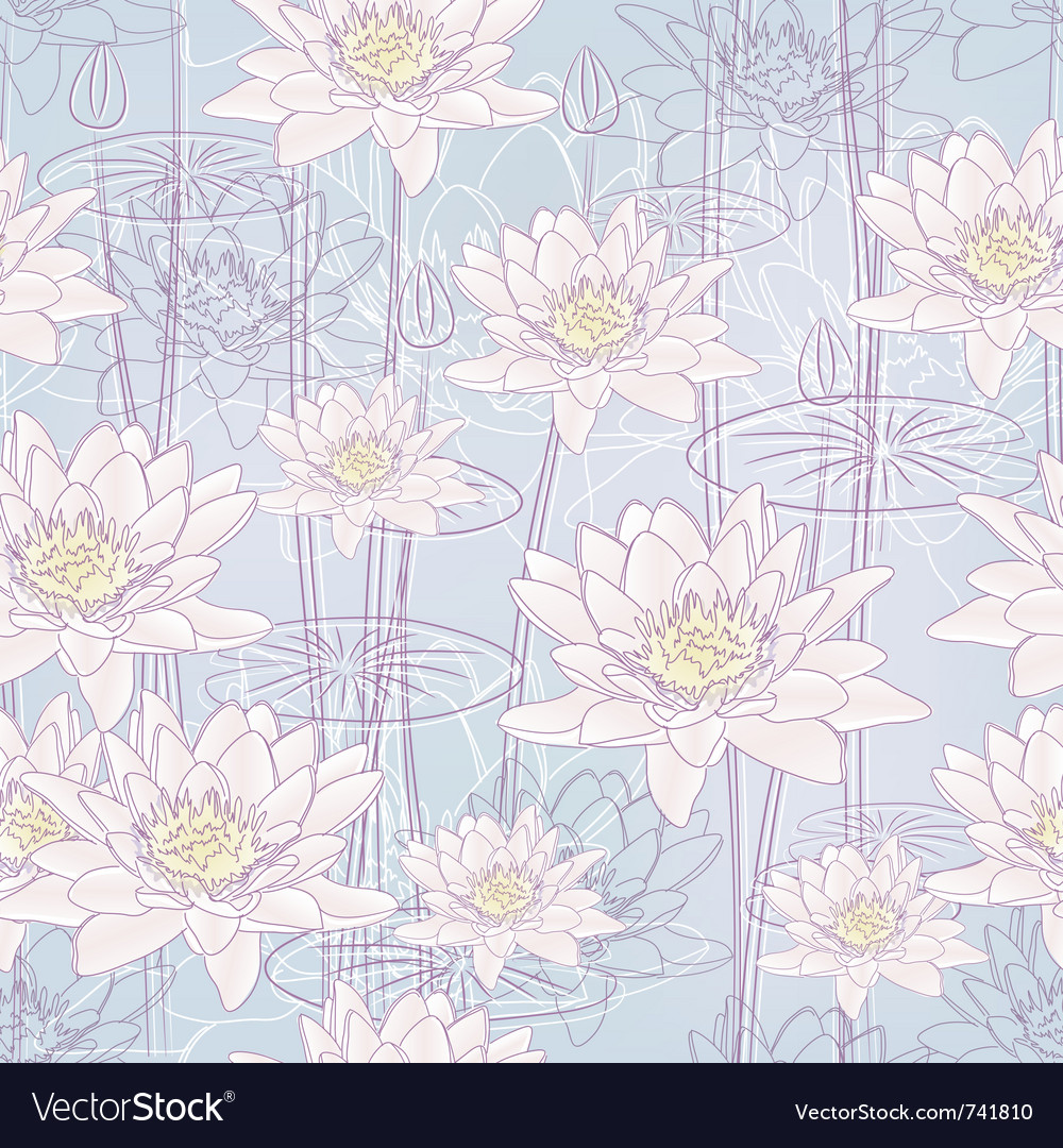Water lily flowers vector | Price: 1 Credit (USD $1)