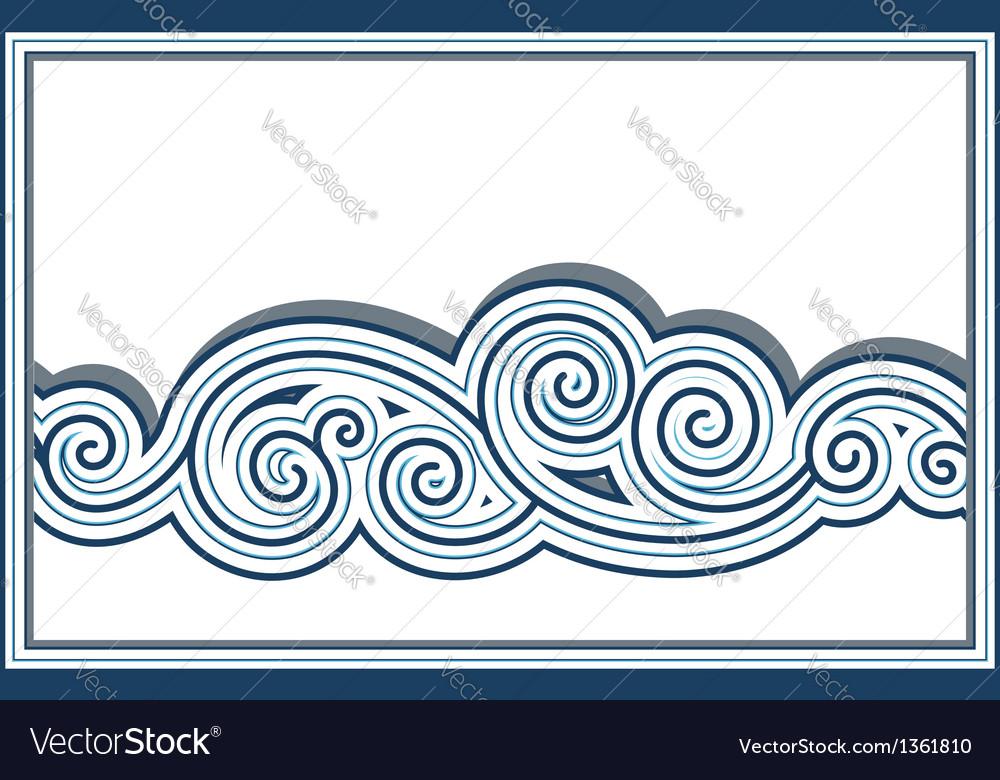 Wave border vector