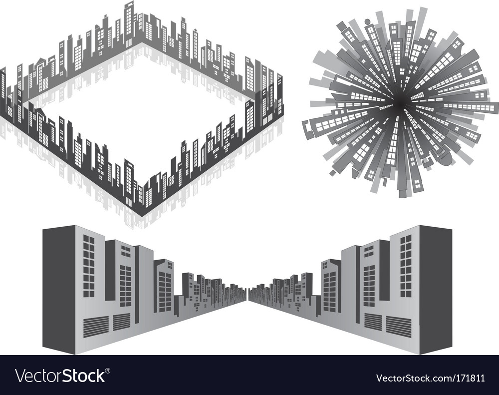 3d cityscape vector | Price: 1 Credit (USD $1)