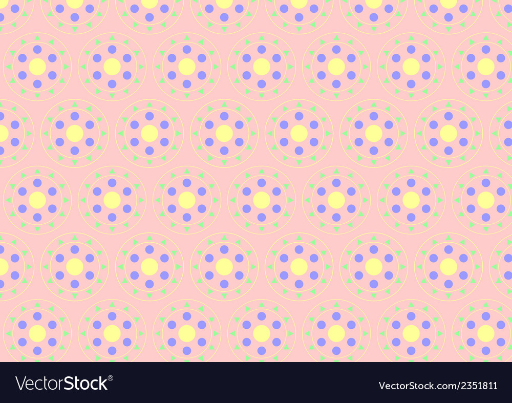Circle clasper pattern on pastel color vector | Price: 1 Credit (USD $1)