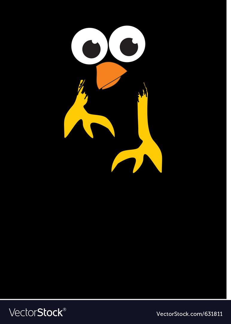Comic cartoon bird in the night vector | Price: 1 Credit (USD $1)