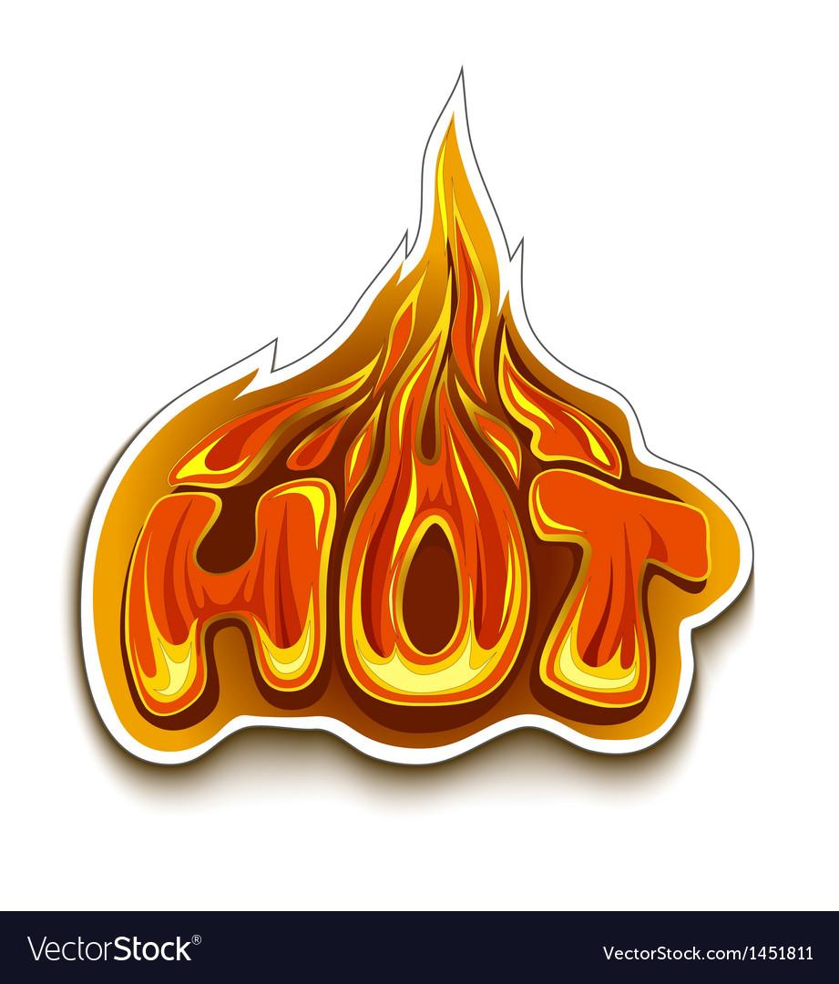 Fiery hot sale design template vector | Price: 1 Credit (USD $1)
