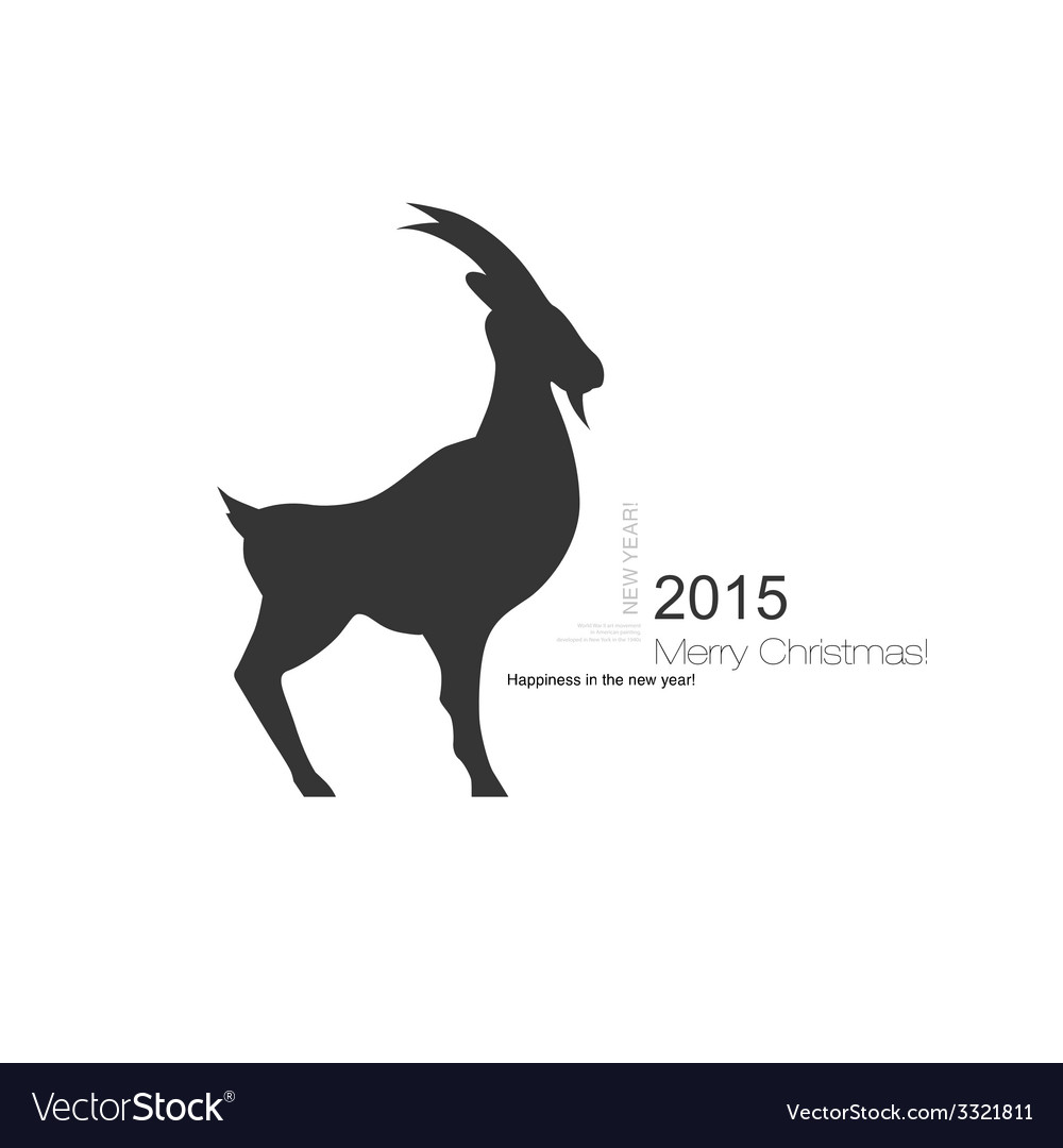 Goat symbol with black profile silhouette of a vector | Price: 1 Credit (USD $1)