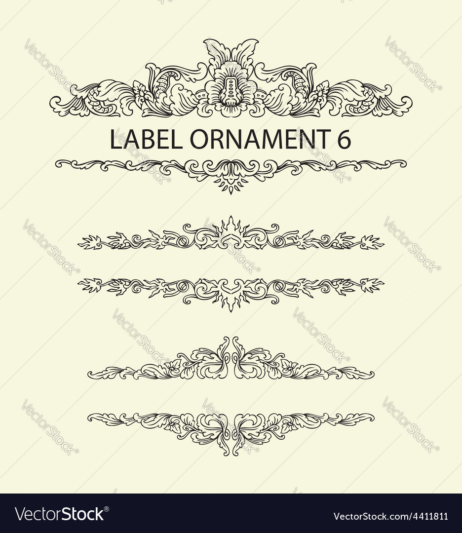 Label ornament 6 vector | Price: 1 Credit (USD $1)