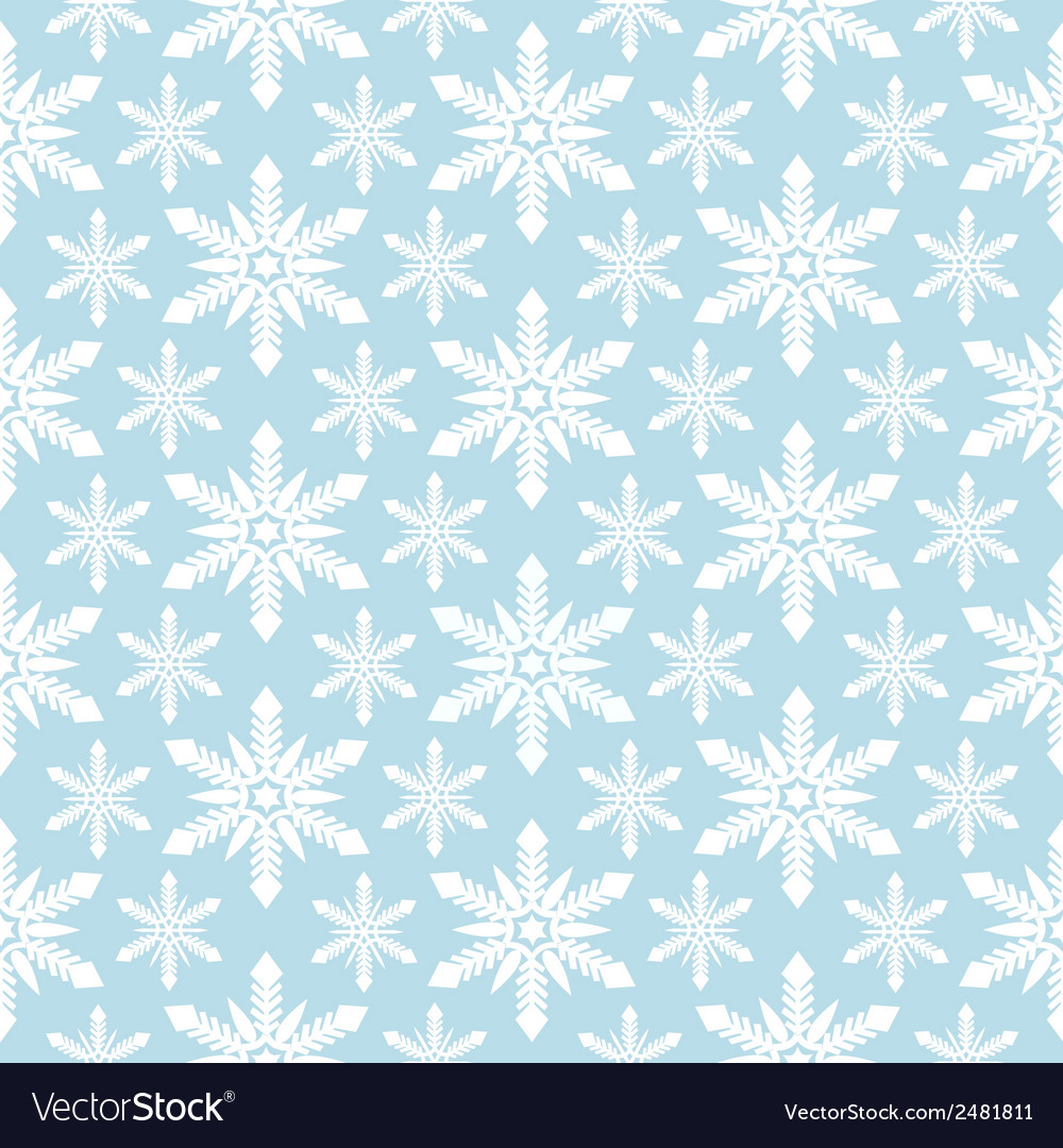 Seamless snowflakes pattern vector | Price: 1 Credit (USD $1)