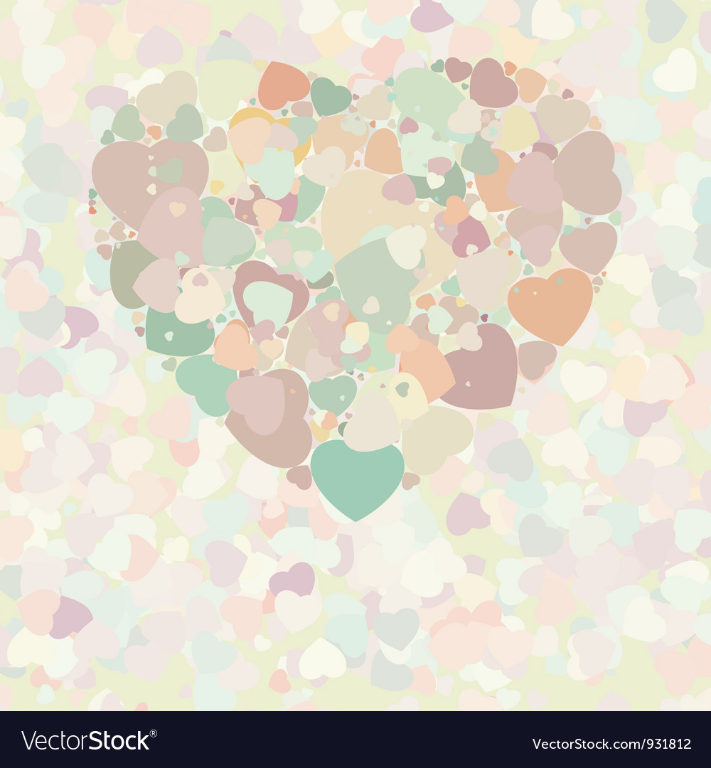 Abstract vintage heart vector | Price: 1 Credit (USD $1)