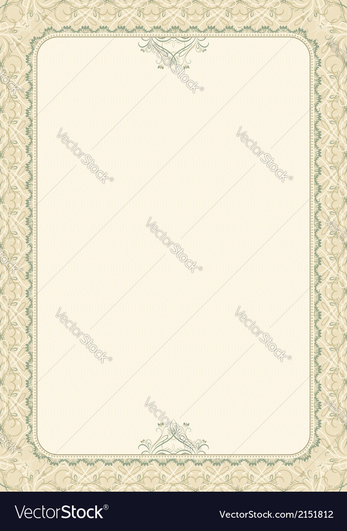Beige background with decorative ornate vector | Price: 1 Credit (USD $1)