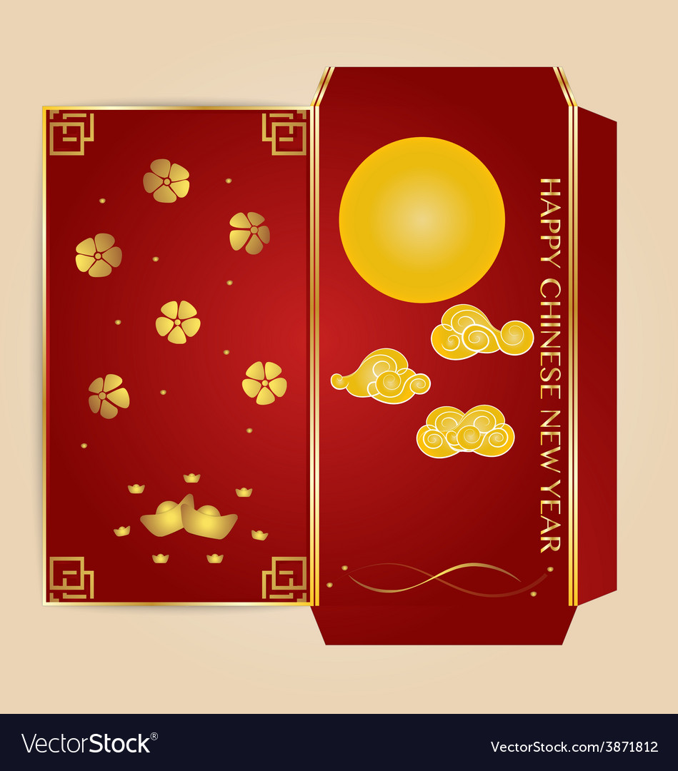 Chinese new year money red packet ang pau design vector | Price: 1 Credit (USD $1)