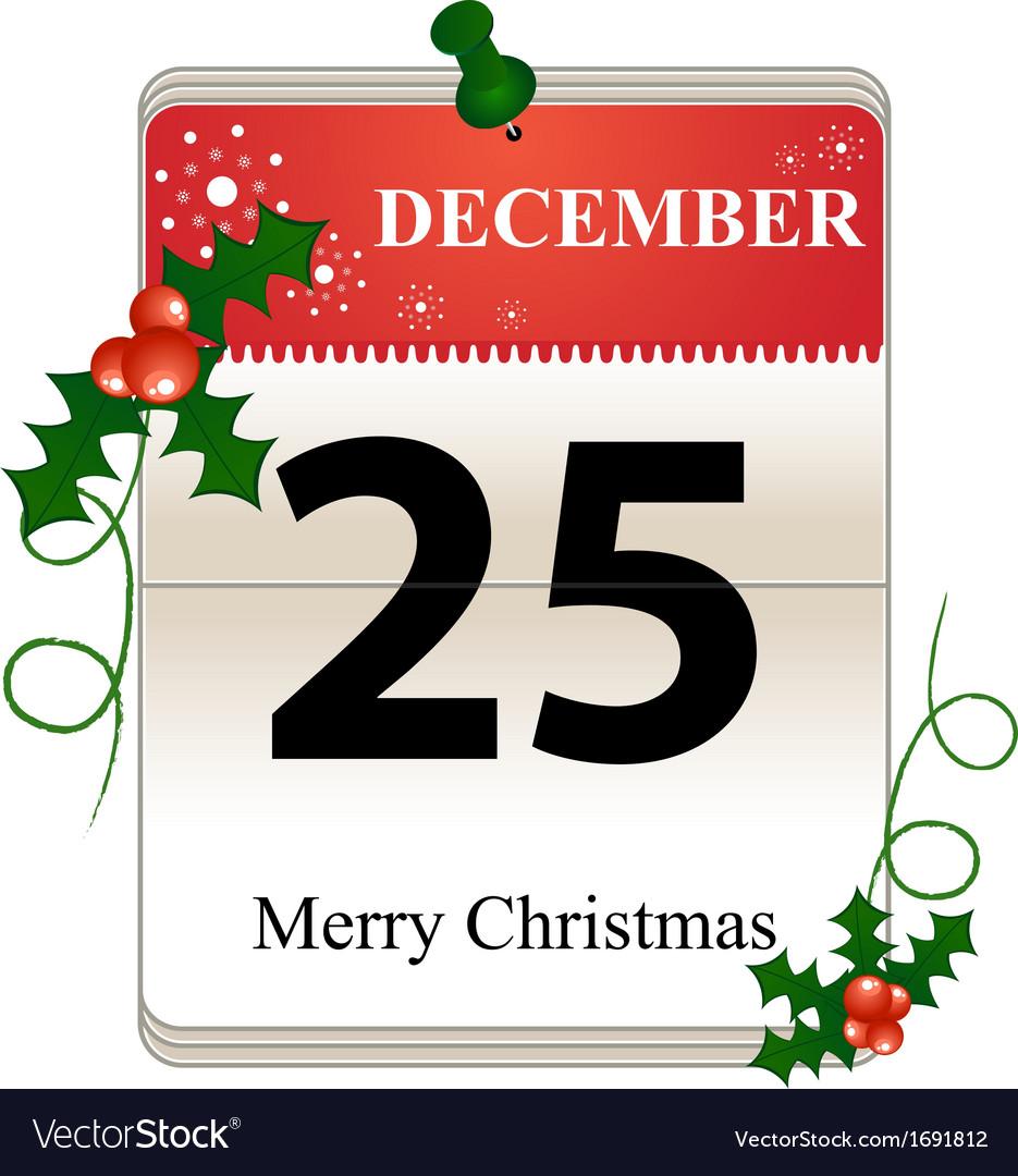 Christmas calendar vector   Price: 1 Credit (USD $1)