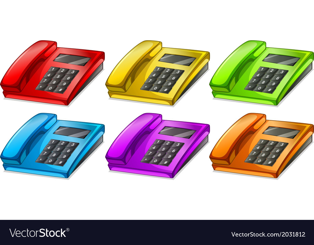 Colorful telephones vector | Price: 1 Credit (USD $1)