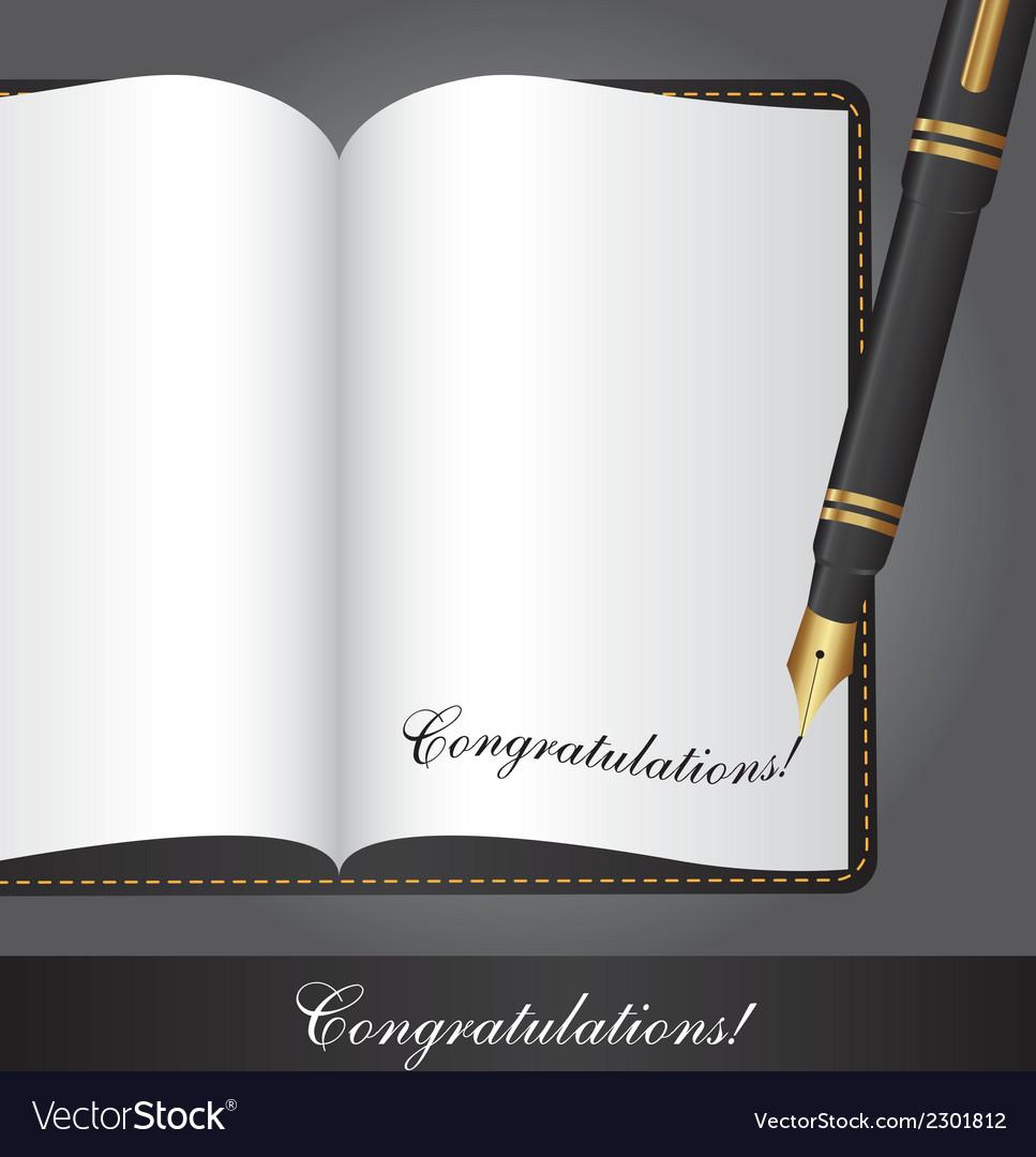 Congratulations note vector | Price: 1 Credit (USD $1)