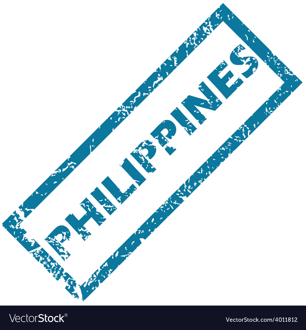 Philippines rubber stamp vector | Price: 1 Credit (USD $1)