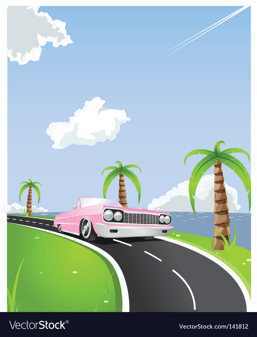Summer convertible drive vector | Price: 1 Credit (USD $1)