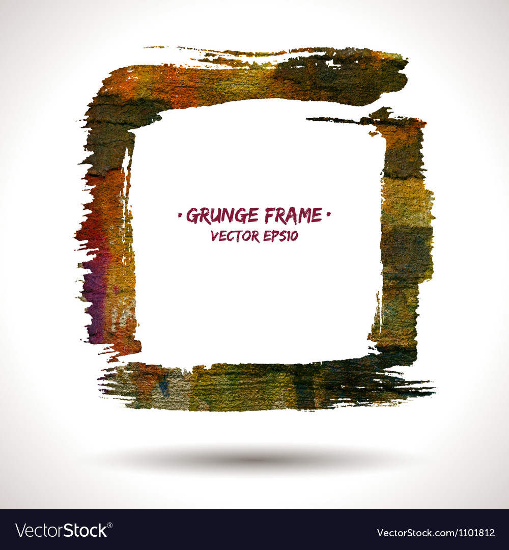 Trendy grunge frame vector | Price: 1 Credit (USD $1)