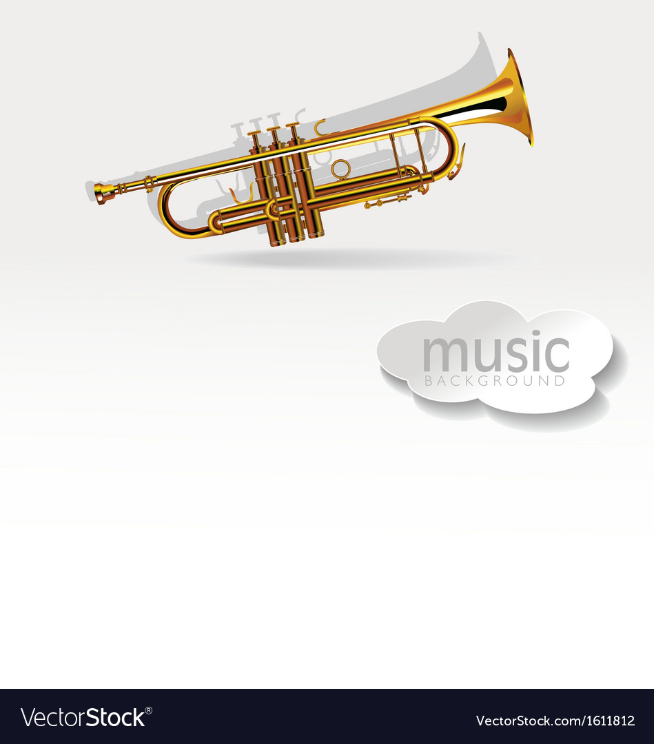 Trumpet on white background vector | Price: 1 Credit (USD $1)