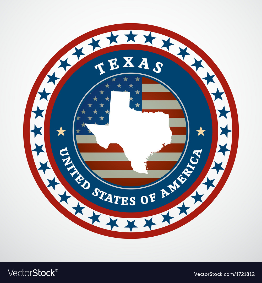 Vintage label texas vector | Price: 1 Credit (USD $1)