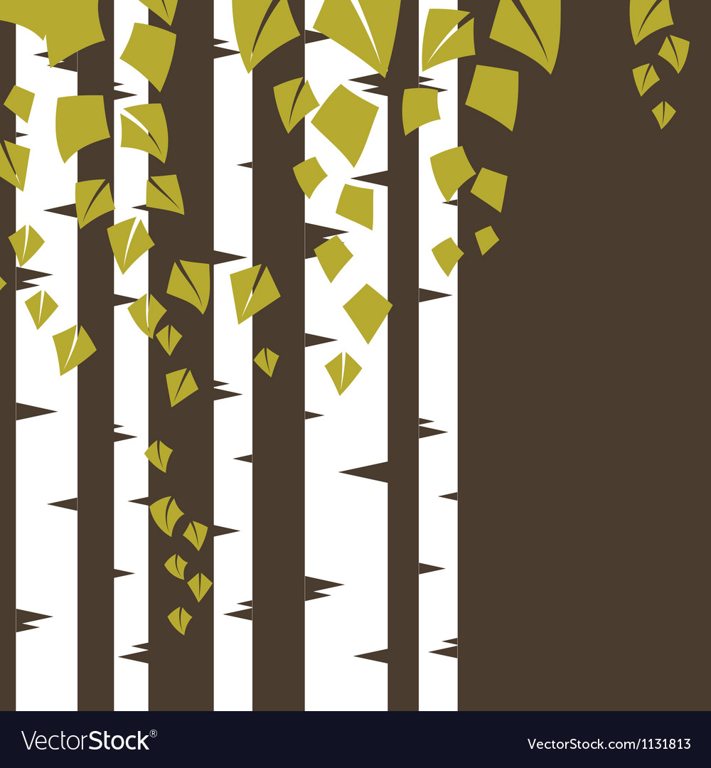 Background with birch branches vector | Price: 1 Credit (USD $1)
