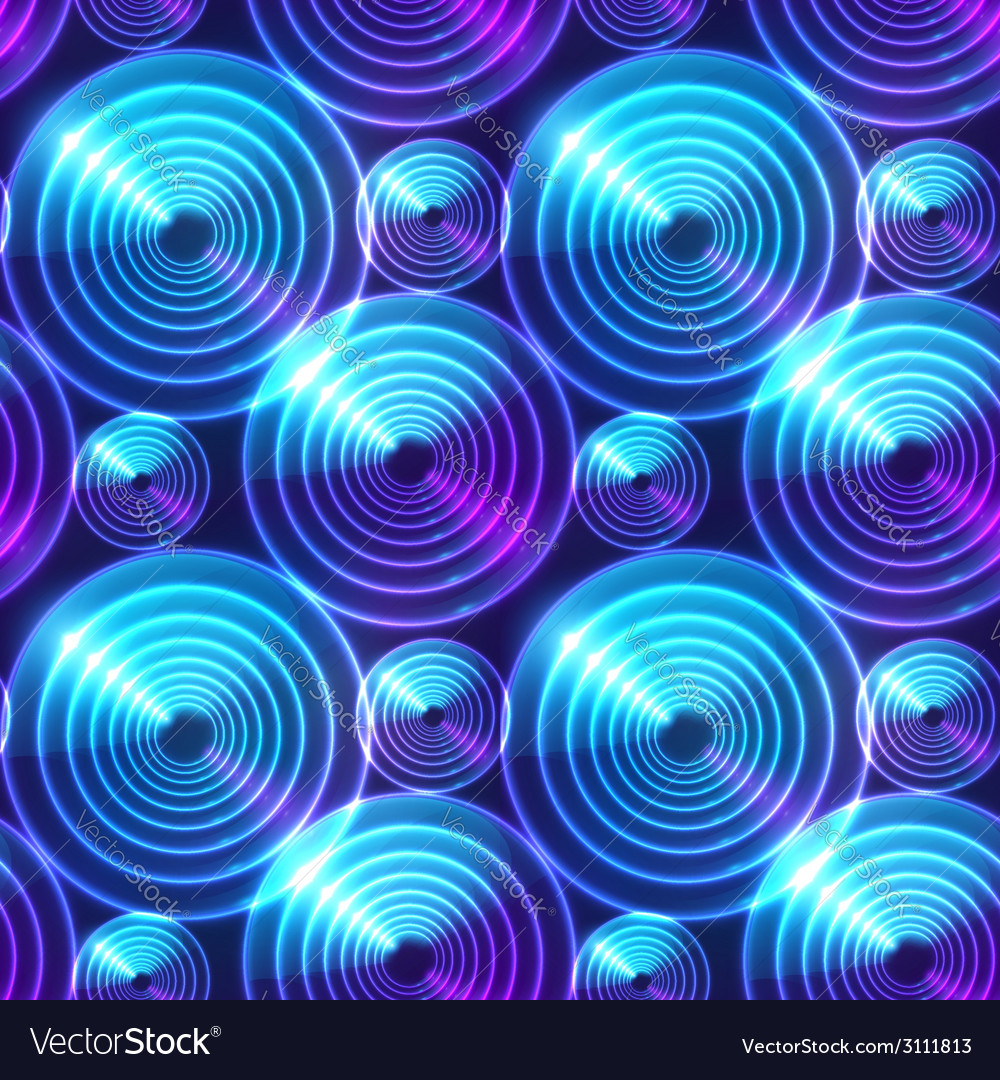 Blue abstract shining circles background vector | Price: 1 Credit (USD $1)