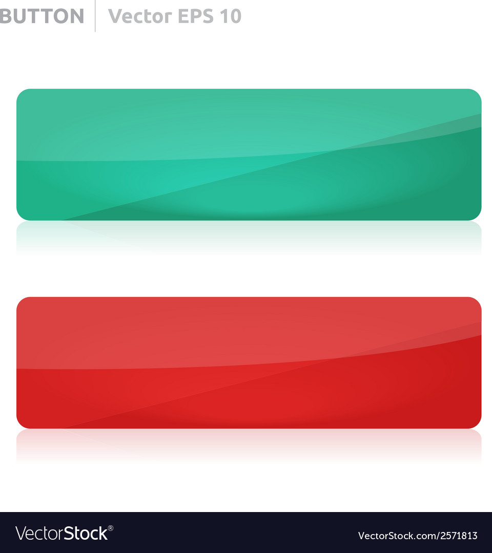 Button template web green and red vector | Price: 1 Credit (USD $1)