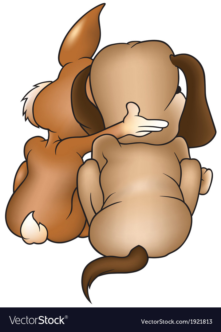 Dog and rabbit vector | Price: 1 Credit (USD $1)