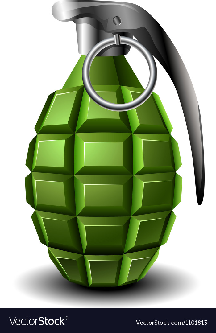 Hand grenade vector | Price: 1 Credit (USD $1)