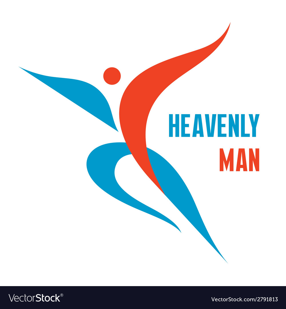 Heavenly man  creative logo sign vector