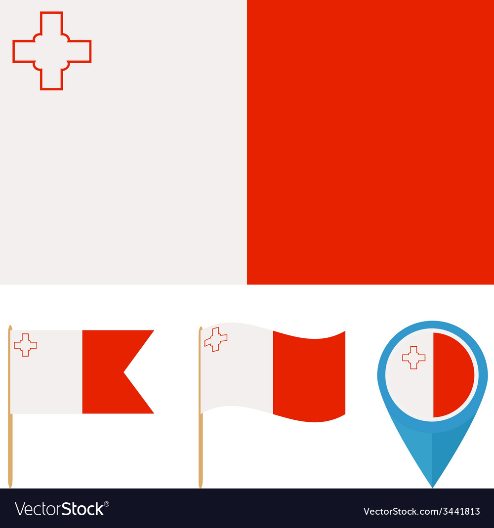 Malta country flag vector | Price: 1 Credit (USD $1)