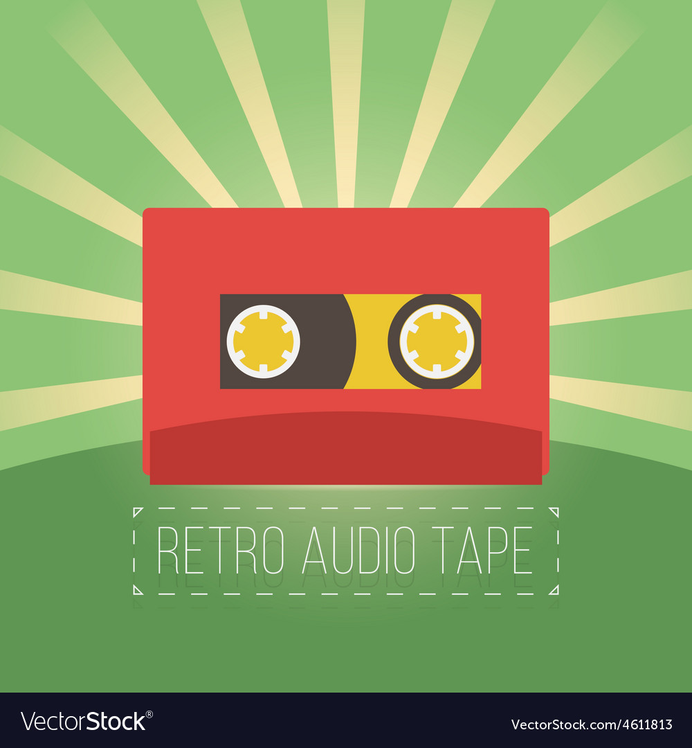 Retro audio tapes in flat style vector | Price: 1 Credit (USD $1)