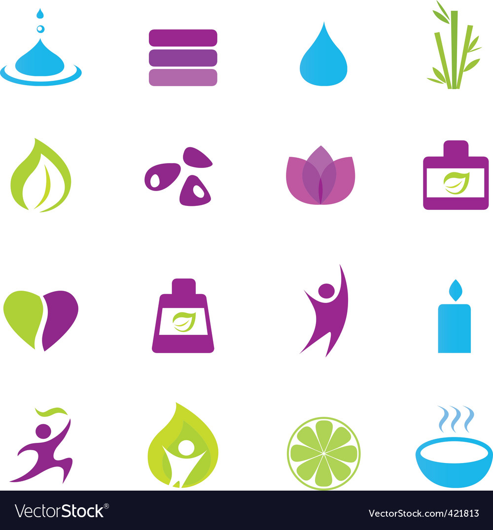 Water wellness and zen icons vector | Price: 1 Credit (USD $1)