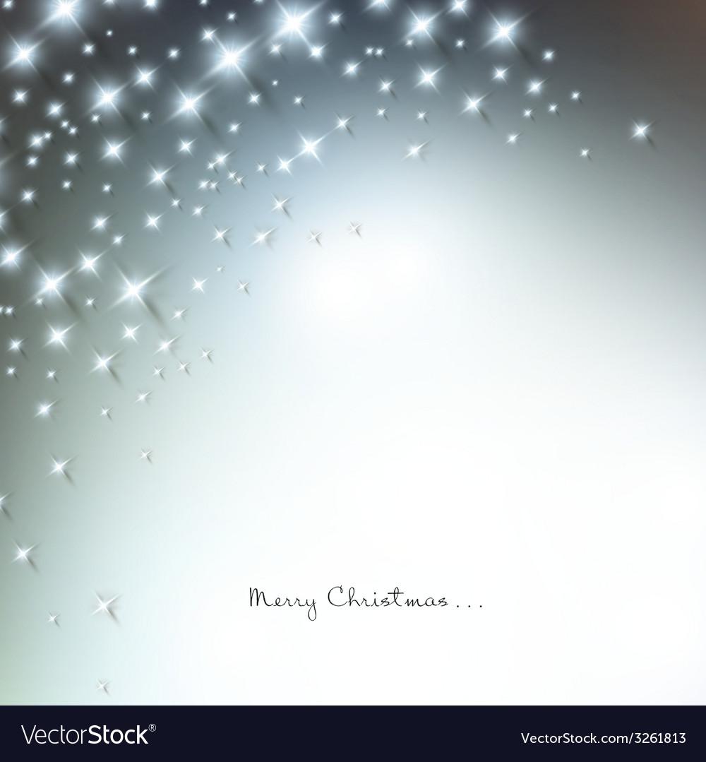 White defocused snowflakes on glow background vector | Price: 1 Credit (USD $1)