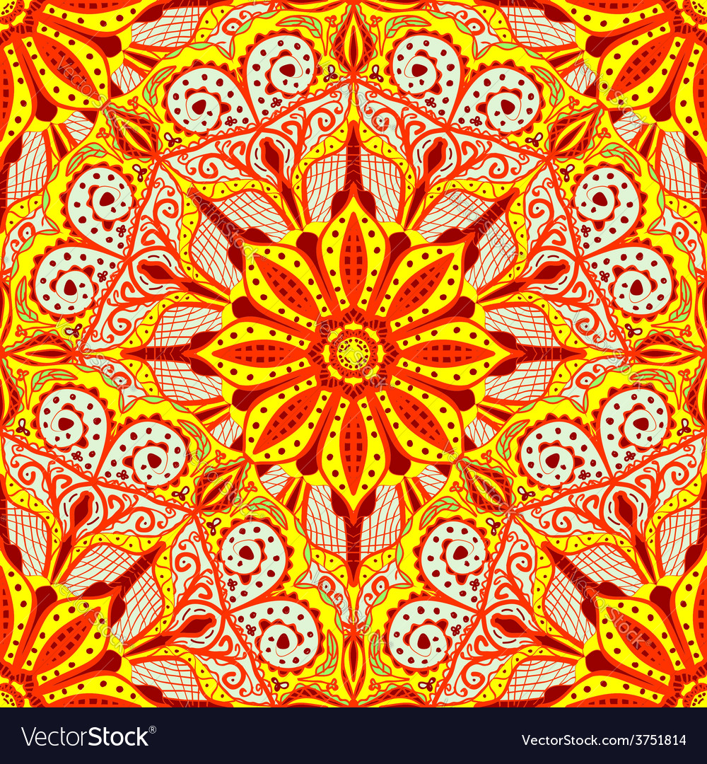 Bright ornament in east stle seamless background vector | Price: 1 Credit (USD $1)