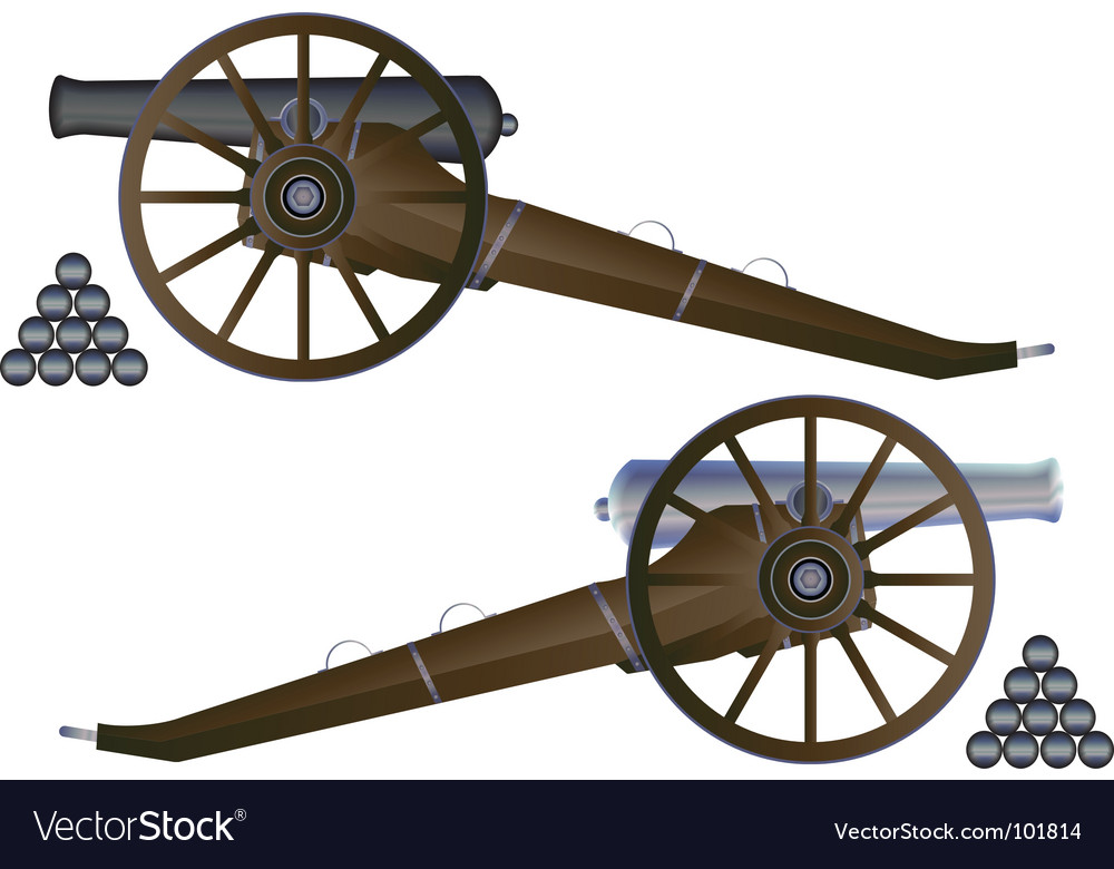 Cannon battle field vector | Price: 1 Credit (USD $1)