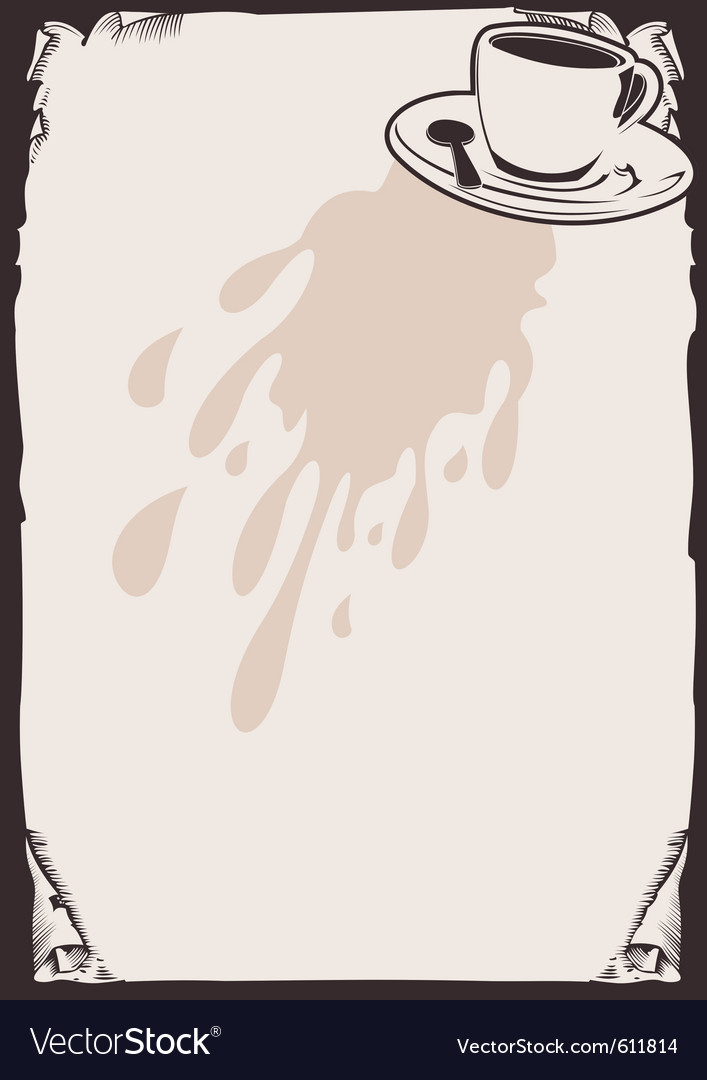 Coffee background vector | Price: 1 Credit (USD $1)