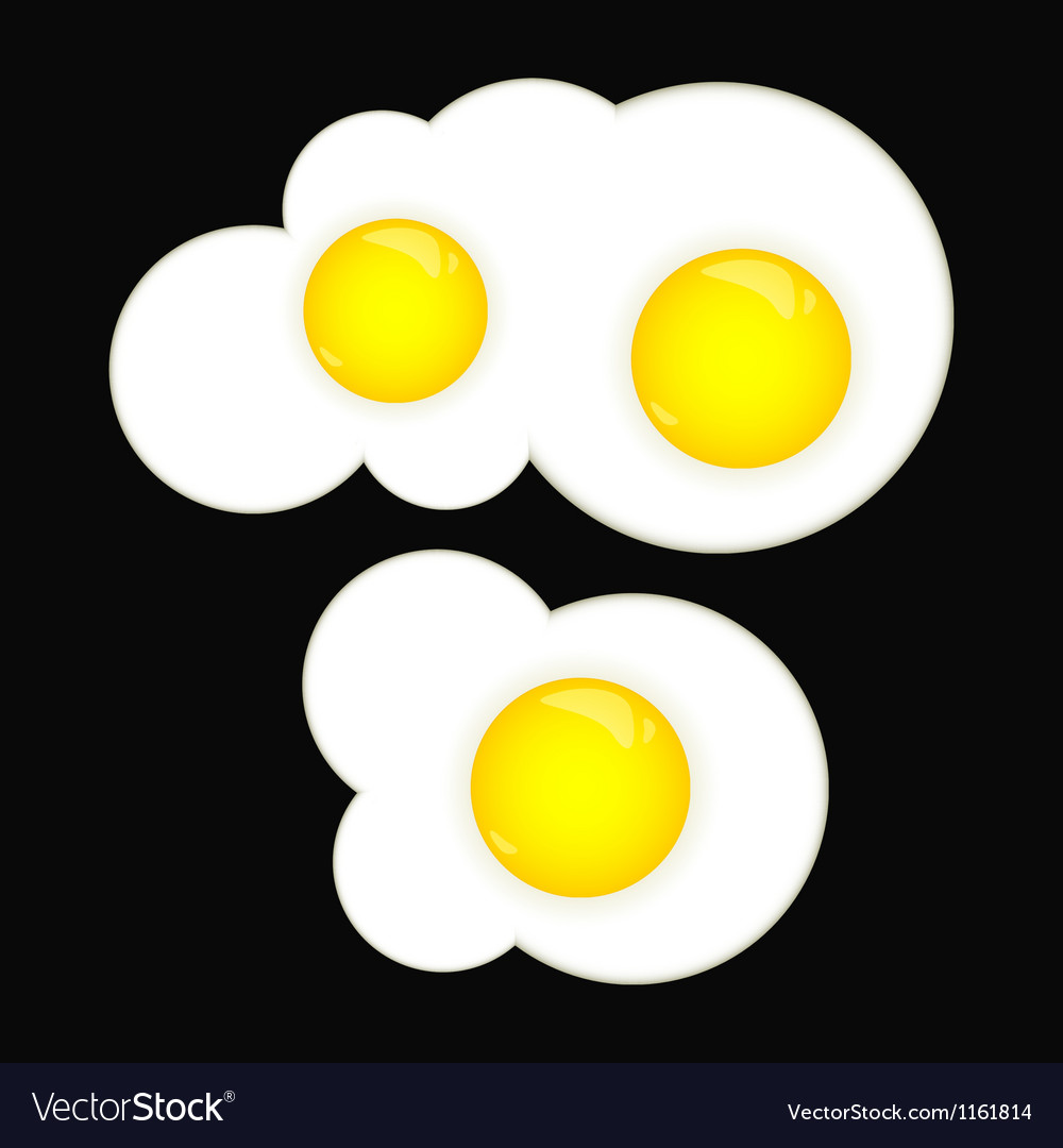 Fried eggs vector | Price: 1 Credit (USD $1)