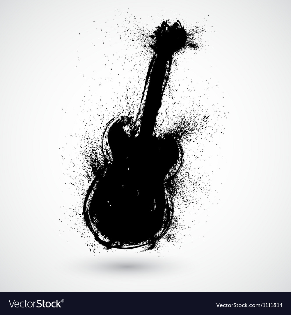 Grunge styled guitar vector | Price: 1 Credit (USD $1)